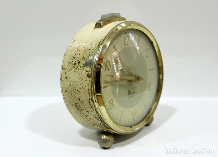 Despertadores antiguos: Reloj despertador MICRO 2 JEWELS. - Foto 3 - 228007945