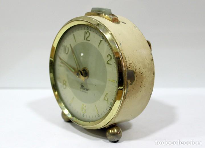 Despertadores antiguos: Reloj despertador MICRO 2 JEWELS. - Foto 4 - 228007945