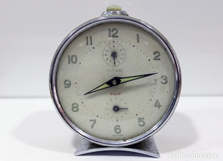 RELOJ DESPERTADOR TITAN - RUBI (Relojes - Relojes Despertadores)