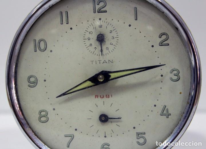 Despertadores antiguos: Reloj despertador TITAN - RUBI - Foto 2 - 228009900