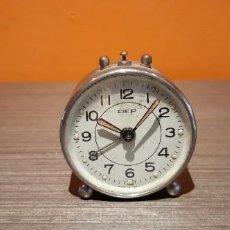 Despertadores antiguos: RELOJ DESPERTADOR MARCA DEP MADE IN SPAIN. Lote 229158956
