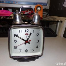 Despertadores antiguos: RELOJ DESPERTADOR A CUERDA ANTIGUO. Lote 232493965