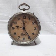 Despertadores antiguos: RELOJ DESPERTADOR HAC O HAU. MODERNISTA ALEMÁN, SONIDO CON GONG DE ESPIRAL. CIRCA 1880-1900. Lote 233486085