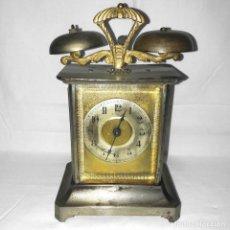 Despertadores antiguos: RELOJ CARRUAJE HAU-HAC-HAMBURG AMERIKANISCHE UHRENFABRIK-ALEMÁN-FUNCINANDO CON LLAVE-CIRCA 1880-1900. Lote 233490560