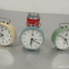 """Despertadores antiguos: CONJUNTO DESPERTADORES """"REGULADORA"""" AÑOS 70 [SET ANTIQUE ALARM CLOCK]. Lote 233538880"""