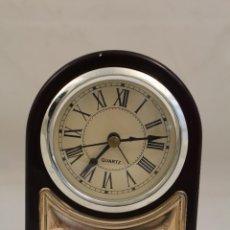 Despertadores antiguos: RELOJ DESPERTADOR DE PLATA DE LEY 925. Lote 268858959