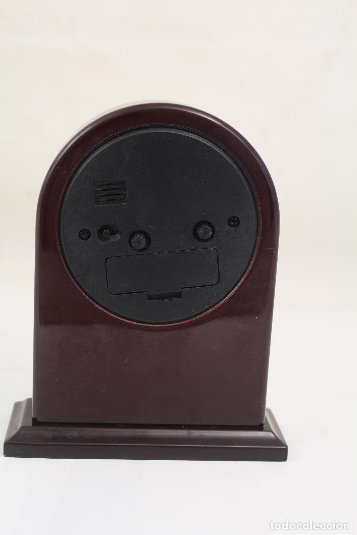 Despertadores antiguos: reloj despertador de plata de ley 925 - Foto 2 - 268858959