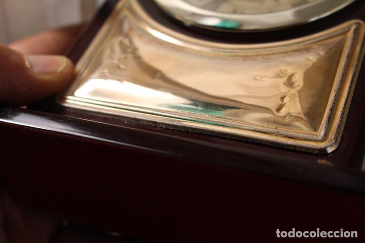Despertadores antiguos: reloj despertador de plata de ley 925 - Foto 3 - 268858959