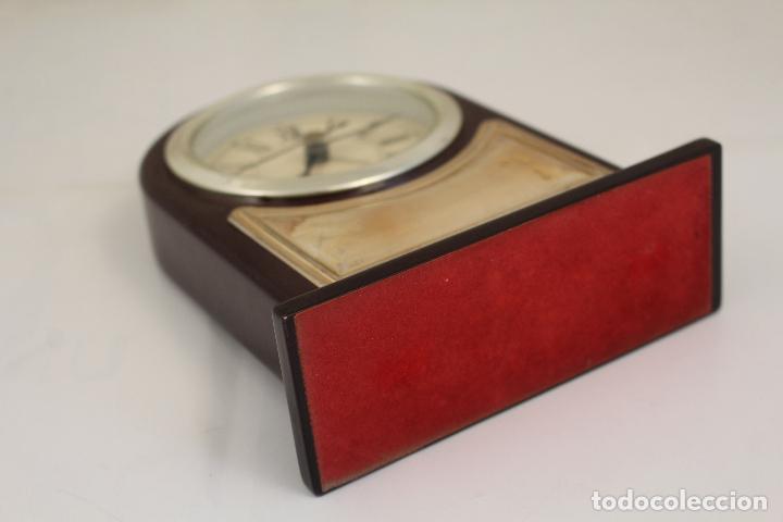 Despertadores antiguos: reloj despertador de plata de ley 925 - Foto 6 - 268858959