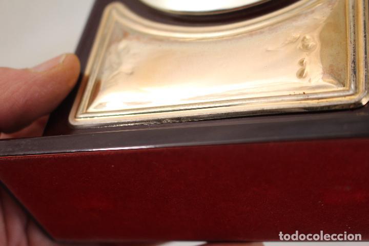 Despertadores antiguos: reloj despertador de plata de ley 925 - Foto 7 - 268858959