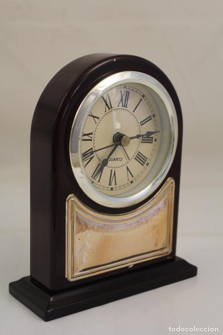 Despertadores antiguos: reloj despertador de plata de ley 925 - Foto 8 - 268858959