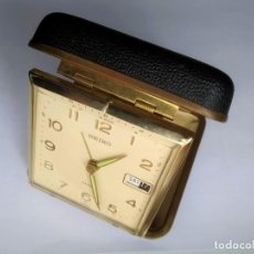 Despertadores antigos: RELOJ DESPERTADOR ALARMA DE VIAJE VINTAGE SEIKO JAPONÉS (MADE IN JAPÁN). Lote 236438505