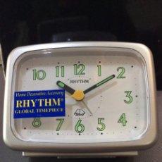 Despertadores antiguos: DESPERTADOR RHYTHM ¡ BIG ALARM ! ¡¡NUEVO!! (VER FOTOS). Lote 237390645