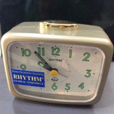 Despertadores antiguos: DESPERTADOR RHYTHM ¡ BIG ALARM ! ¡¡NUEVO!! (VER FOTOS). Lote 237392940
