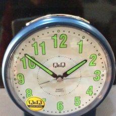 Despertadores antiguos: DESPERTADOR Q&Q ¡ SILENCIOSO ! ¡¡NUEVO!! (VER FOTOS). Lote 237393880