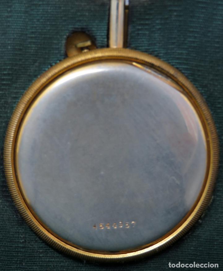 Despertadores antiguos: Reloj despertador de viaje portatil Longines segundero a las doce con estuche de piel siglo XX - Foto 6 - 237511470