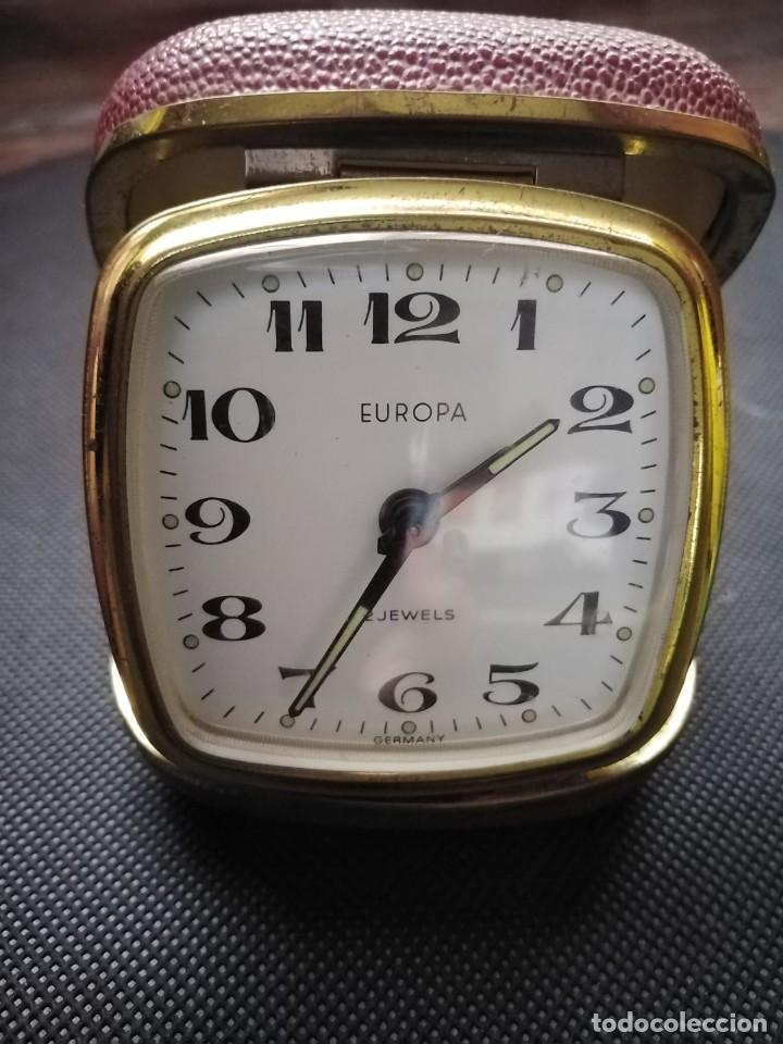 RELOJ DESPERTADOR MARCA EUROPA 2 JEWELS GERMANY (Relojes - Relojes Despertadores)