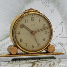 Despertadores antiguos: ORIS-ANTIGUO RELOJ DESPERTADOR-SUIZO-FUNCIONANDO. Lote 241172750