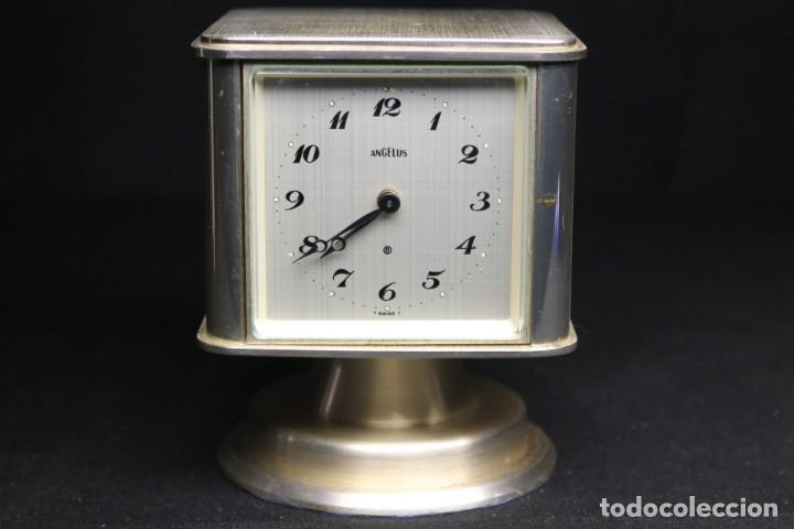 RELOJ ANGELUS DESPERTADOR Y ESTACIÓN METEOROLÓGICA (Relojes - Relojes Despertadores)