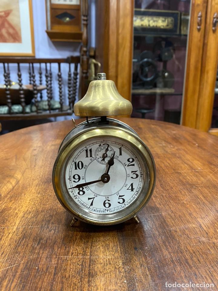 DESPERTADOR BAYARD ART DÉCO CON CAMPANA FUNCIONANDO (Relojes - Relojes Despertadores)