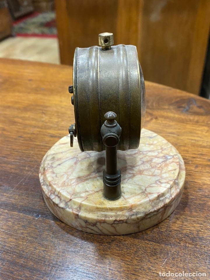 Despertadores antiguos: Reloj despertador DEP Art Déco basculante - Base mármol - Foto 3 - 244828570