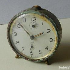 Despertadores antiguos: RELOJ DESPERTADOR FUNCIONANDO MARCA JAZ. Lote 245028615