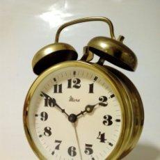 Despertadores antiguos: RELOJ DESPERTADOR DE LA MARCA MICRO - 2 CAMPANAS - VINTAGE - DECORACIÓN RETRO -. Lote 246319220