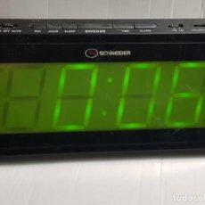 Despertadores antiguos: RADIO DESPERTADOR SCHNEIDER DIGITAL AÑOS 80 FUNCIONANDO. Lote 248595860