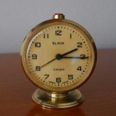 Despertadores antiguos: RELOJ DESPERTADOR SLAVA. Lote 252057330