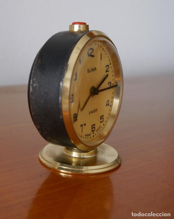Despertadores antiguos: Reloj despertador Slava - Foto 3 - 252057330