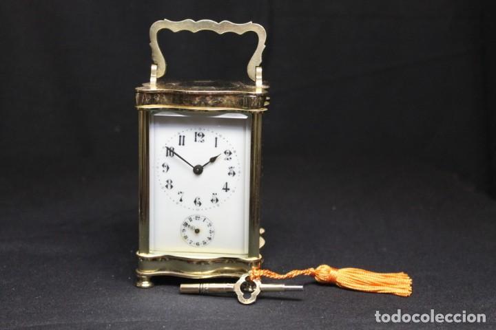 RELOJ CARRIAGE CLOCK O RELOJ DE CABECERA, FRANCÉS DESPERTADOR (Relojes - Relojes Despertadores)