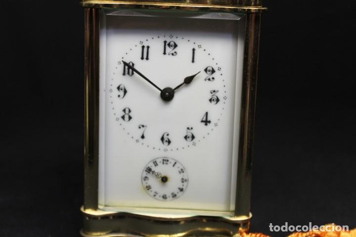 Despertadores antiguos: RELOJ CARRIAGE CLOCK O RELOJ DE CABECERA, FRANCÉS DESPERTADOR - Foto 2 - 252469930