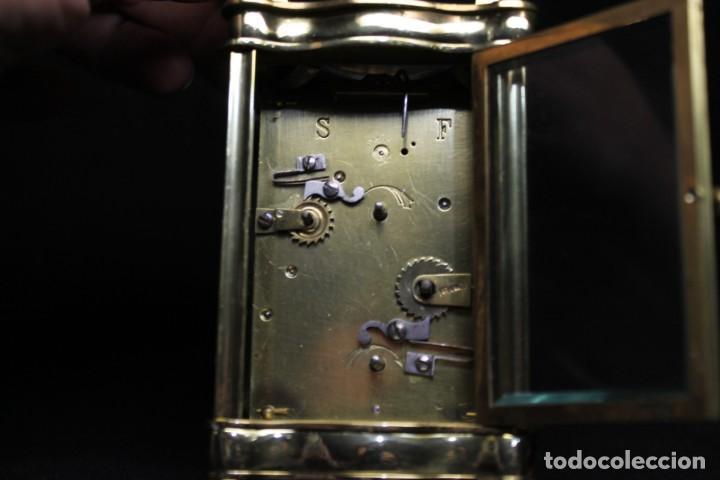 Despertadores antiguos: RELOJ CARRIAGE CLOCK O RELOJ DE CABECERA, FRANCÉS DESPERTADOR - Foto 4 - 252469930