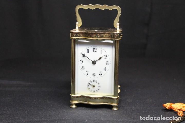 Despertadores antiguos: RELOJ CARRIAGE CLOCK O RELOJ DE CABECERA, FRANCÉS DESPERTADOR - Foto 6 - 252469930