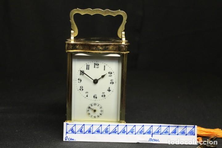 Despertadores antiguos: RELOJ CARRIAGE CLOCK O RELOJ DE CABECERA, FRANCÉS DESPERTADOR - Foto 7 - 252469930