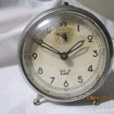 Despertadores antiguos: RELOJ DESPERTADOR VINTAGE CID FABRICACION ESPAÑOLA. Lote 253175515