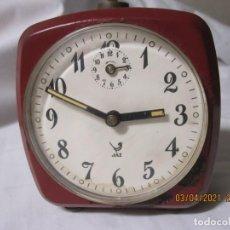 Despertadores antiguos: RELOJ DESPERTADOR VINTAGE JAZ FABRICACION FRANCESA. Lote 253180205
