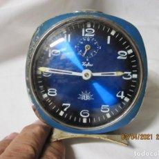 Despertadores antiguos: RELOJ DESPERTADOR VINTAGE ZAFIRO ALBA FUNCONANDO. Lote 253180990