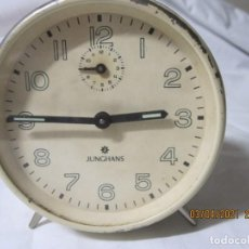 Despertadores antiguos: RELOJ DESPERTADOR VINTAGE JUNCHANS FUNCONANDO. Lote 253181495