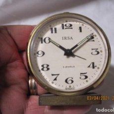 Despertadores antiguos: RELOJ DESPERTADOR VINTAGE IRSA GERMANY FUNCONANDO. Lote 253181900