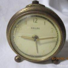 Despertadores antiguos: RELOJ DESPERTADOR VINTAGE DELLER GERMANY FUNCONANDO. Lote 253182780