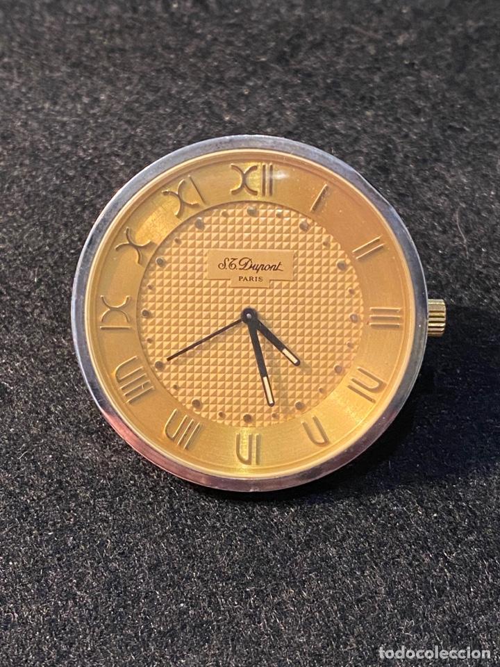 RELOJ DESPERTADOR QUARTZ DE VIAJE MARCA DUPONT EN ACERO , AÑOS 80 (Relojes - Relojes Despertadores)