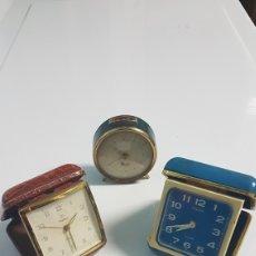 Despertadores antigos: 3 RELOJES DESPERTADOR 12. Lote 256066180