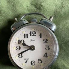 Despertadores antiguos: ANTIGUO RELOJ DESPERTADOR MICRO FUNCIONANDO. Lote 257383990