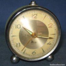 Despertadores antiguos: RELOJ DSPERTADOR MICRO DE SOBREMESA, 2 JEWELS, AÑOS 70, MADE IN SPAIN. Lote 257406470