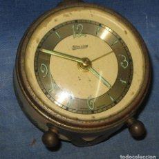 Despertadores antiguos: RELOJ DESPERTADOR BLESSING, AMARILLO. AÑOS 60. WESTERN GERMANY. Lote 257408450