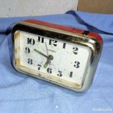 Despertadores antiguos: RELOJ DESPERTADOR VINTAGE CITIZEN FUNCIONA. Lote 257600350