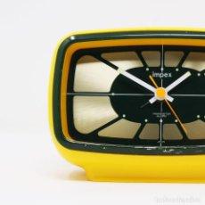 Despertadores antiguos: RELOJ DESPERTADOR SPACE AGE IMPEX RHYTHM 7RA066. Lote 257699140