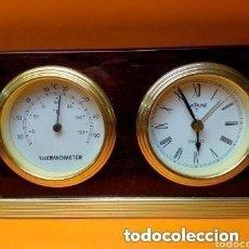 Despertadores antiguos: RELOJ TERMOMETRO MARCA BATANE FUNCIONANDO PERFECTAMENTE. Lote 257810575