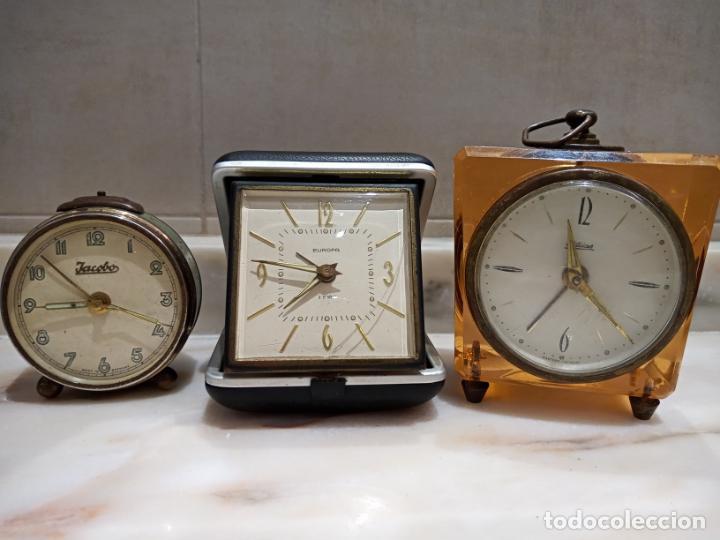 LOTE DE RELOJES DESPERTADORES A CUERDA KAISER,EUROPA,JACOBO (Relojes - Relojes Despertadores)